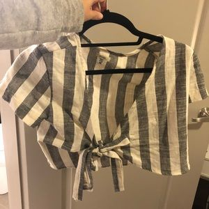 Tops - Striped tie up top